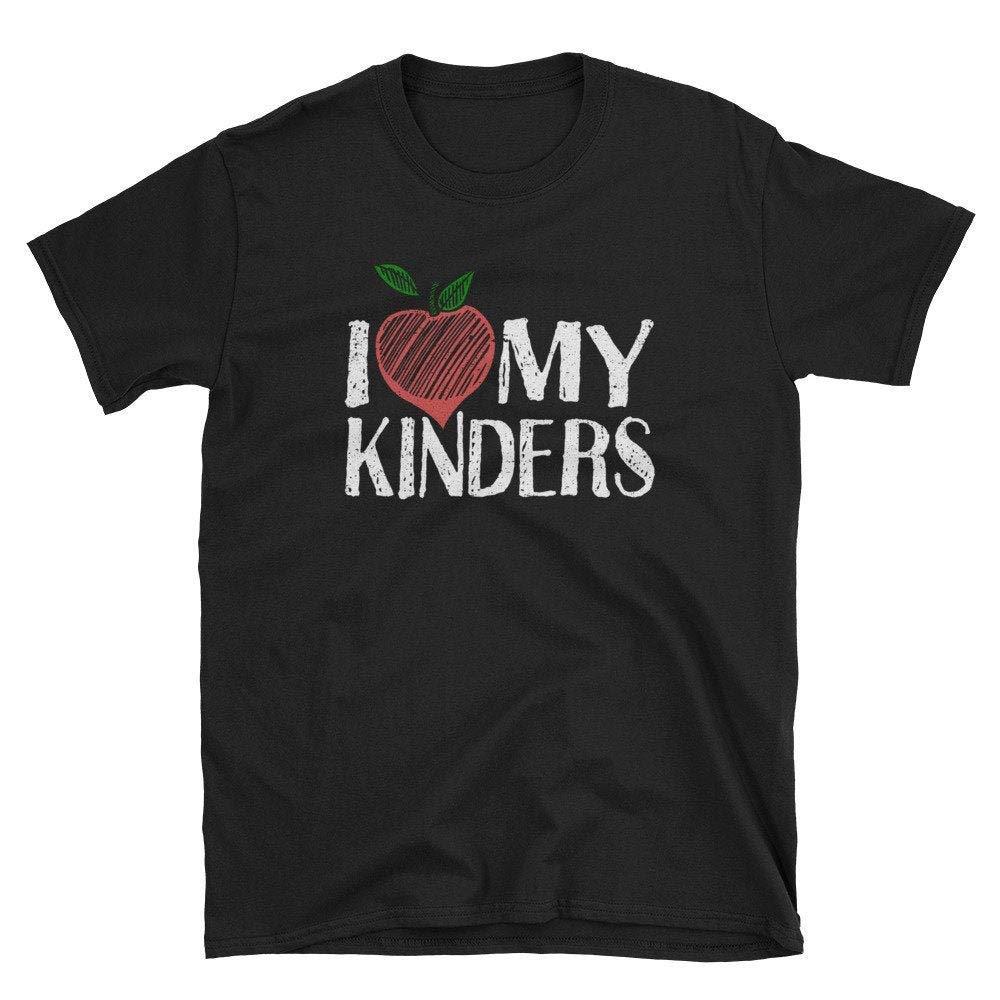 Teacher  Gift Kindergarten  School  Kindergarten Teacher  Teacher Tee I Love My Kinders Unisex Men Ladies Hoodie Tank Top Swear Long Sleeve  For Men Women T-shirts